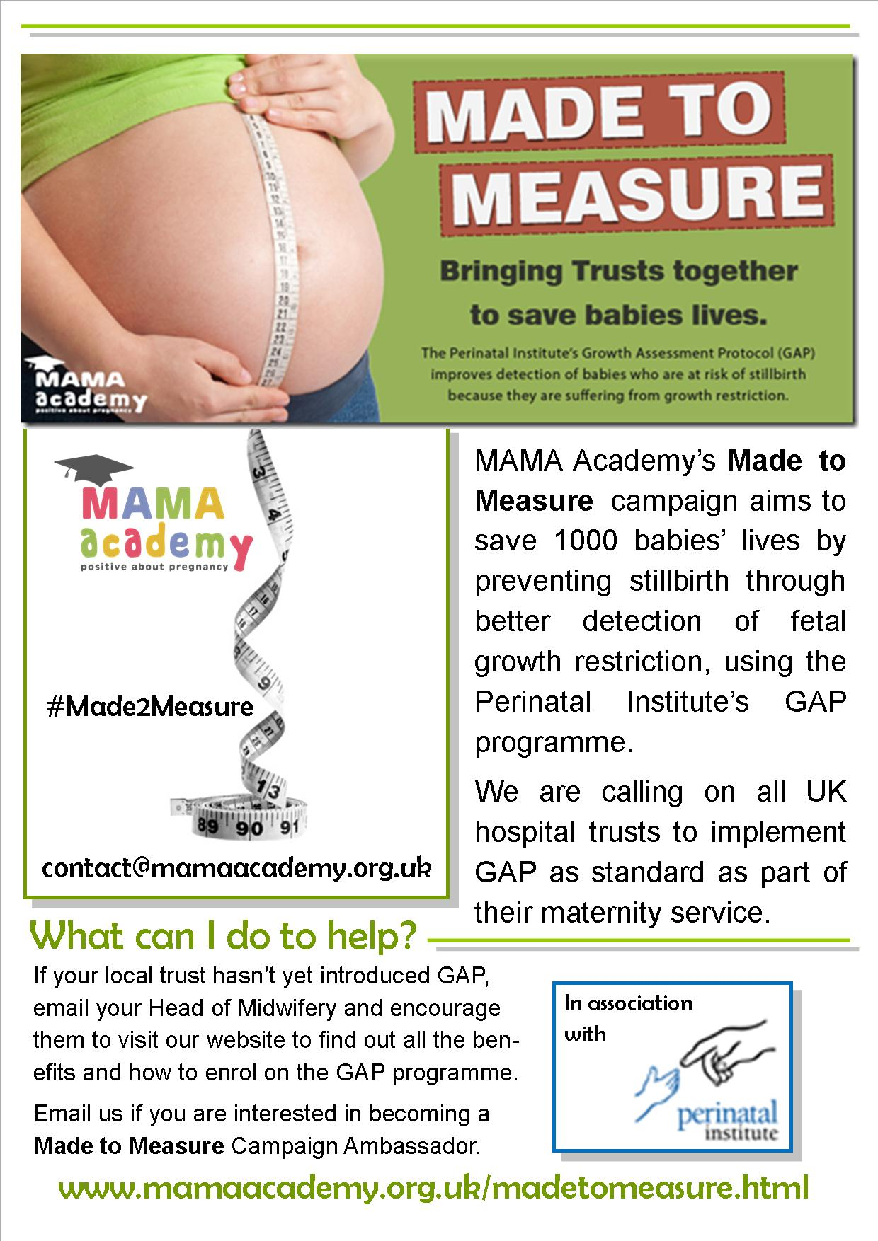 Made to measure mama academy get your hospital on board gap nvjuhfo Images